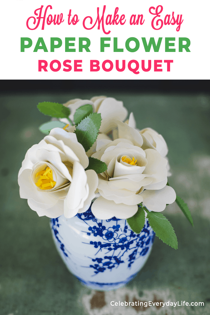 How To Make An Easy Paper Rose Flower Paper Roses Paper Flowers