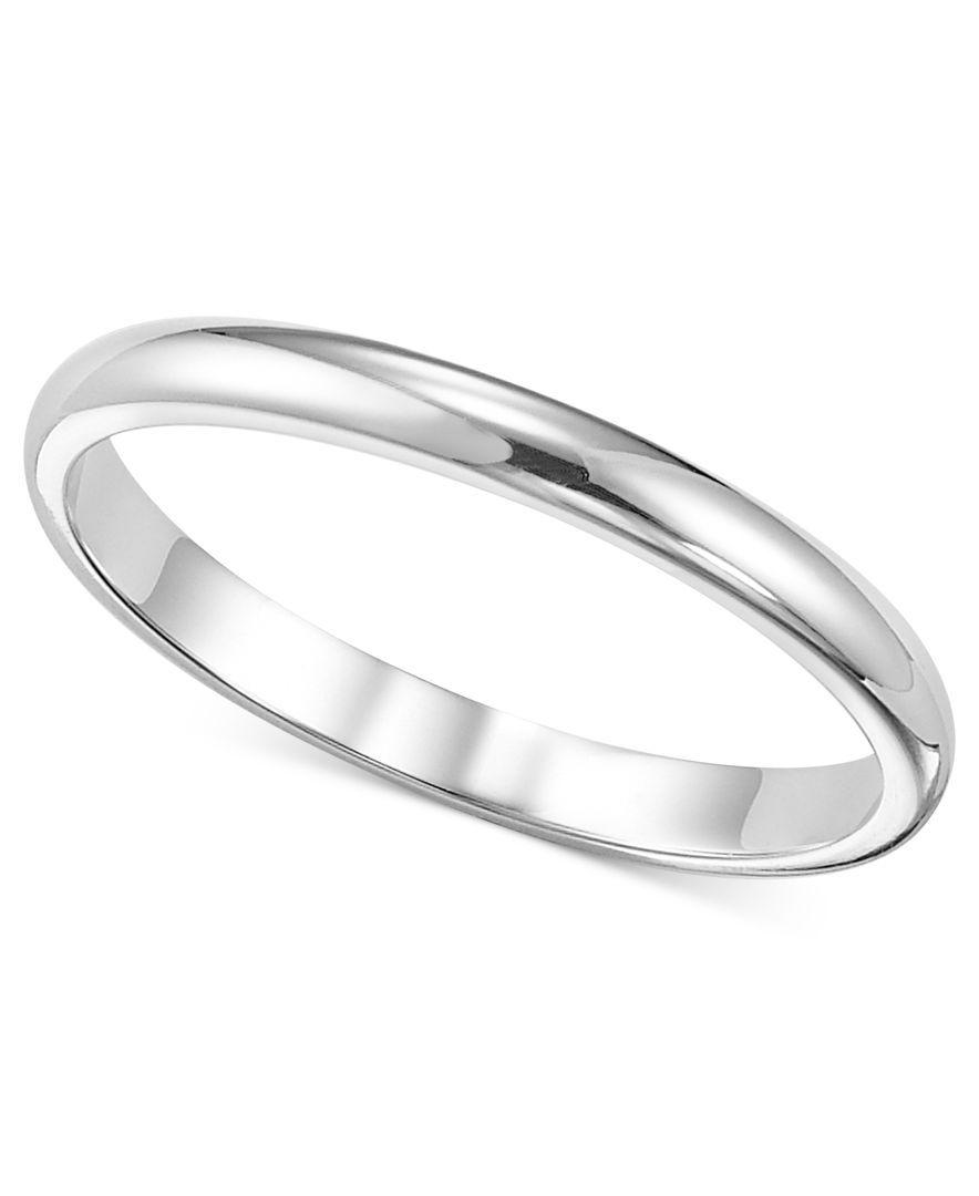 Macy S Women S Ring 2mm Platinum Wedding Band Reviews Rings Jewelry Watches Macy S Platinum Wedding Band Platinum Wedding Band Womens Women Rings