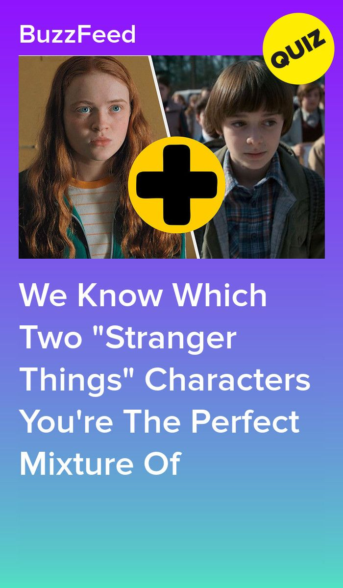 Everyone Is A 50/50 Split Of Two Stranger Things Characters, Who Are You?