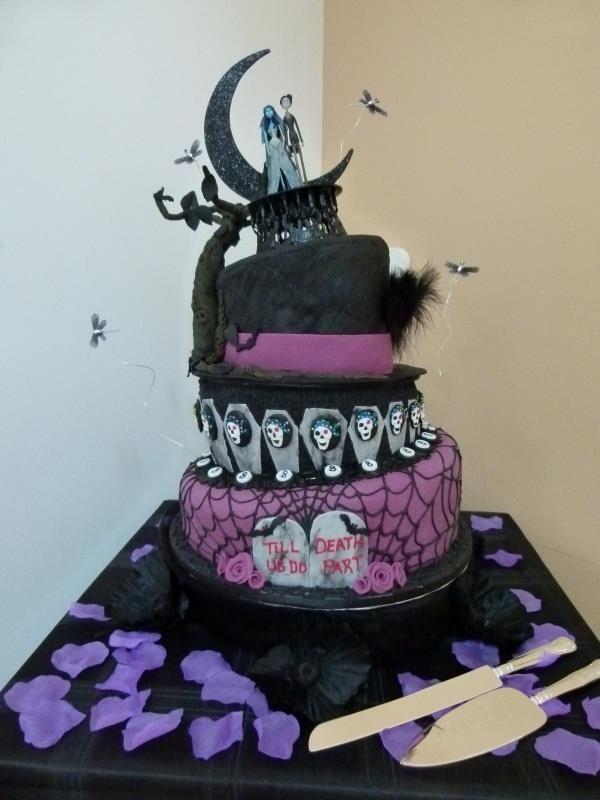 GOTH WEDDING CAKE Extreme Cakes Pinterest