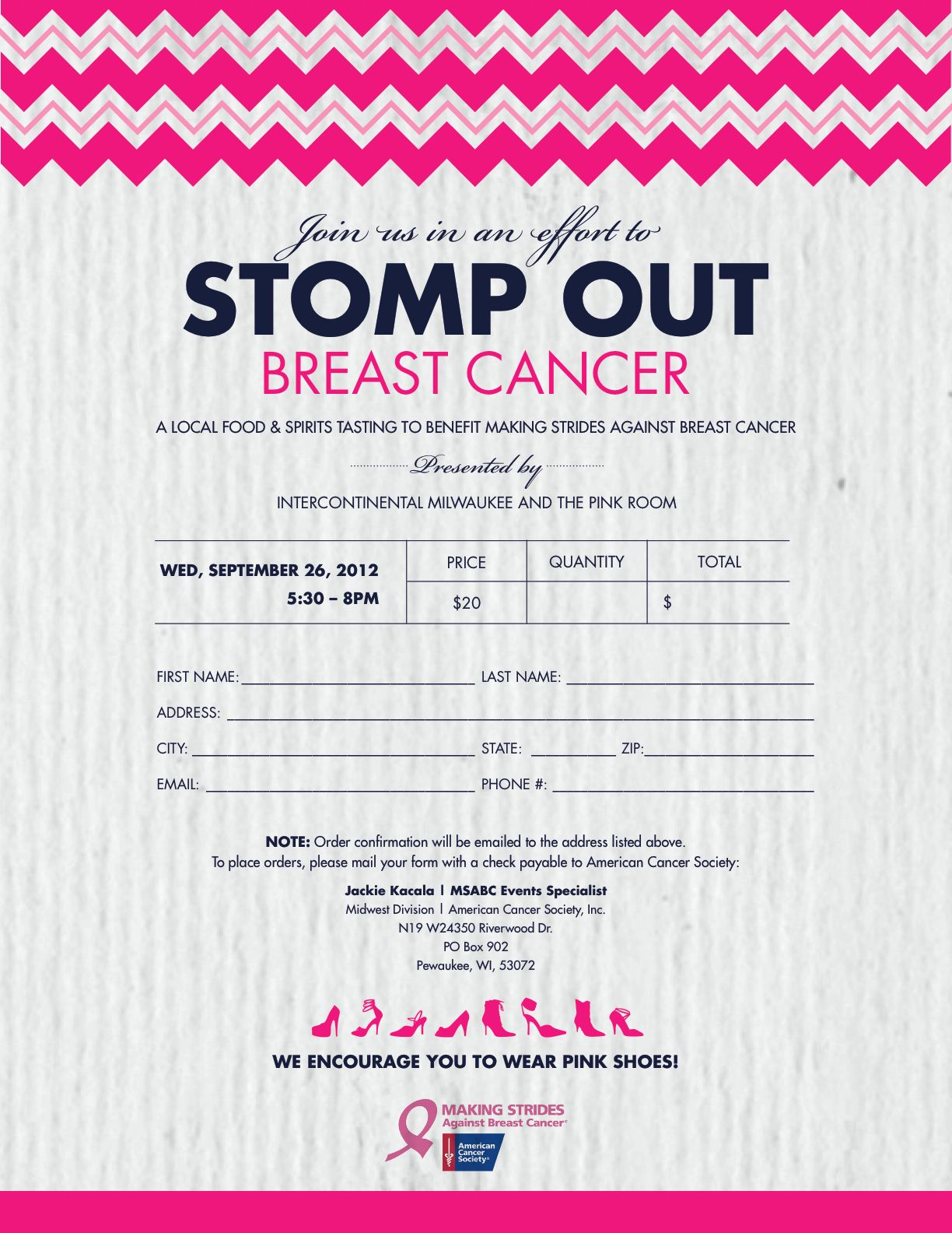 Order Form! | STOMP OUT BREAST CANCER IDEAS | Pinterest | Order form