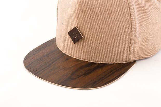 d25727a51cd 6 panel snapback hat with Ziricote wood brim.