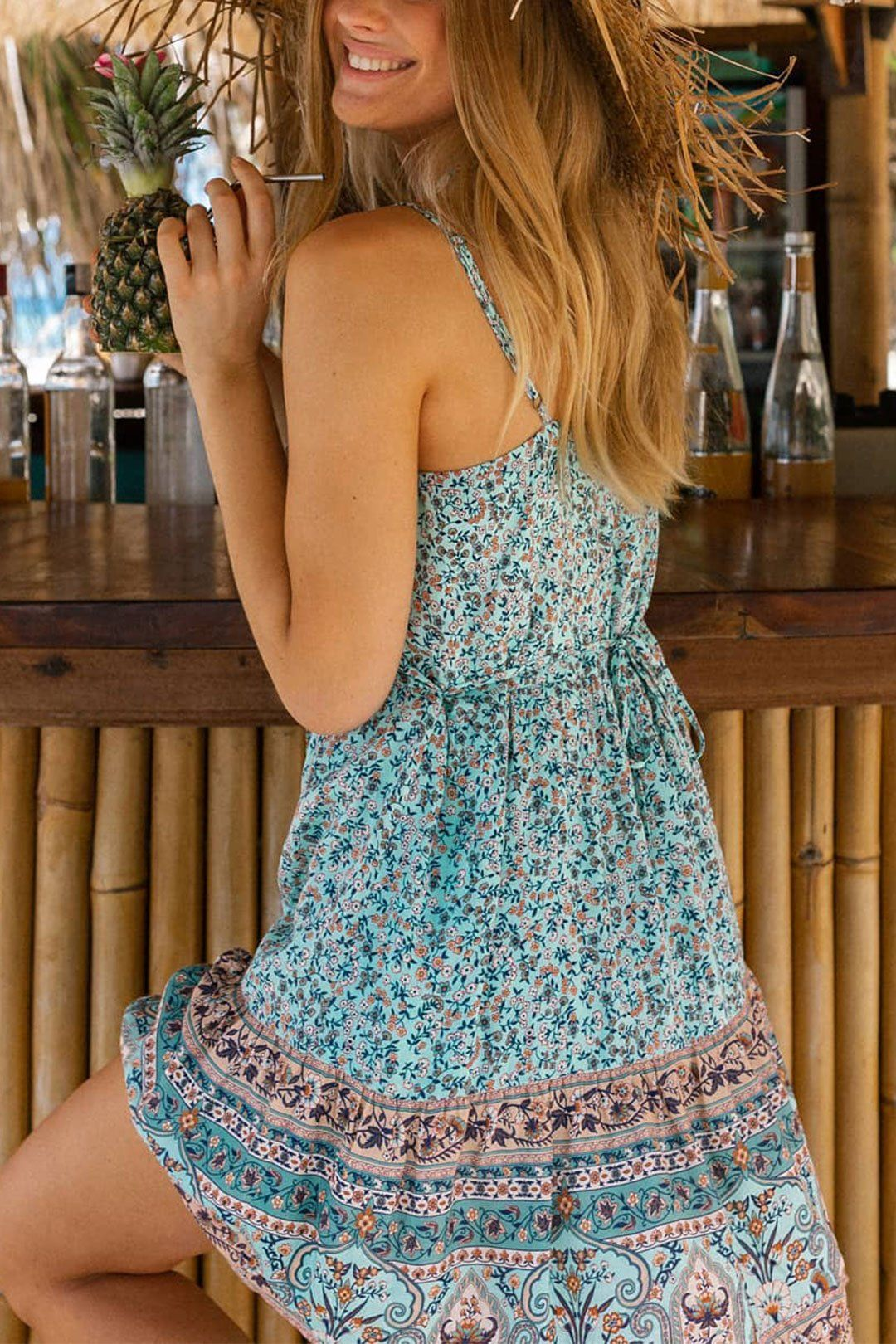 Mini Dress Boho Dress Pristine Island Strappy In River Blue Only 30 99 Free Shipping Bohofashion Bohoch Boho Dress Boho Chic Dresses Casual Mini Dress [ 1620 x 1080 Pixel ]