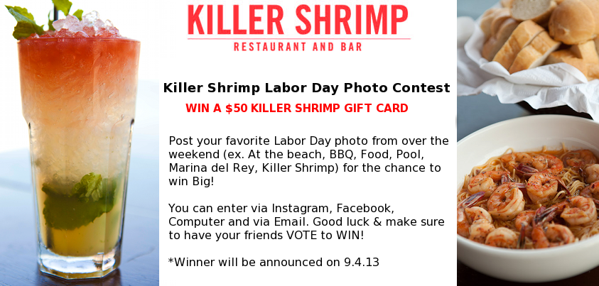 It's not too late to enter our #LaborDay photo contest. Check out our Facebook page for more details: https://www.facebook.com/KILLERSHRIMPMDR