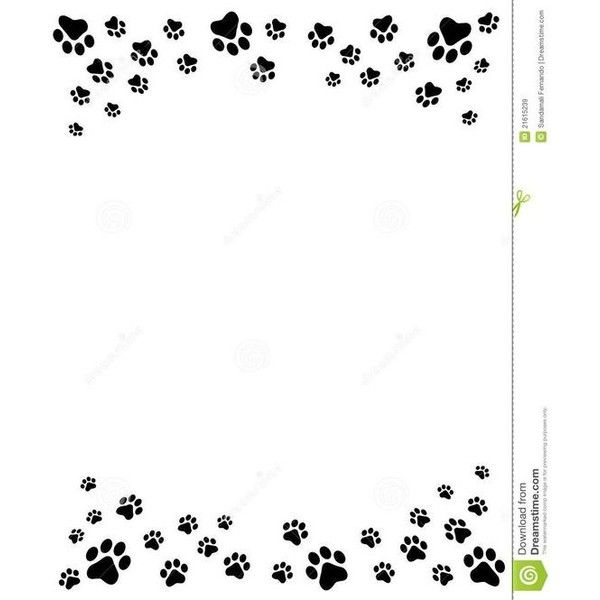 Pin By Marcia Redalen On Paw Print Dog Clip Art Clip Art Borders Paw Print Clip Art