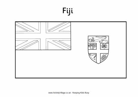 Fiji Flag Colouring Page Flag Coloring Pages Fiji Flag Super