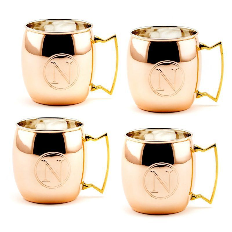 Old Dutch 16 oz. Monogrammed Moscow Mule Mugs - Set of 4 - OS428MM