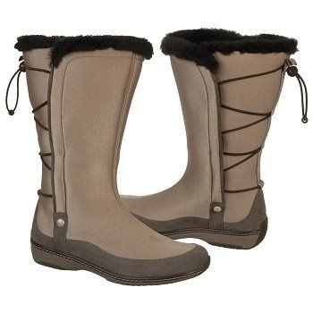Aetrex Furry Bungee Boots Boots (Mochaberry) - Women's Boots - 5.5 M
