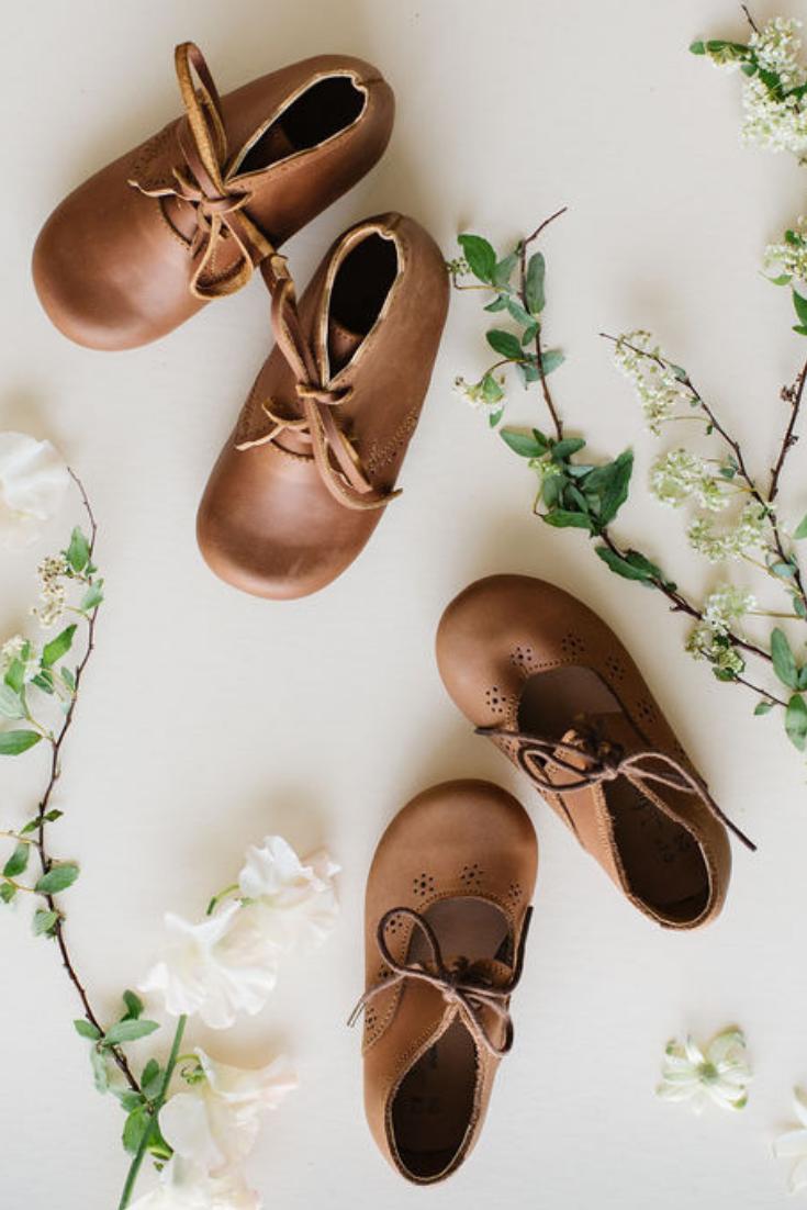 Sol {Children's Leather Shoes} Søde babysko, babypige  Cute baby shoes, Baby girl