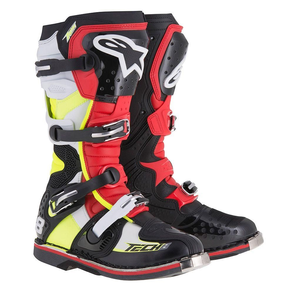 Alpinestars Tech 7 Mens Off-Road Motorcycle Boots Black//Red//Yellow//Size 11
