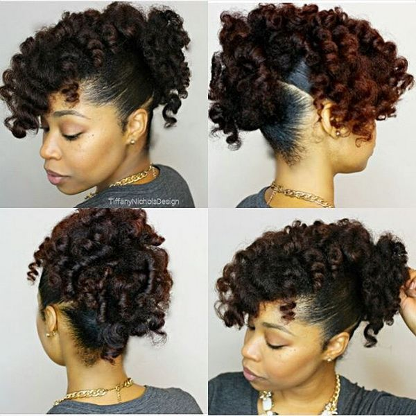 No Heat Natural Curly Updo Summer Protective Hairstyles Black