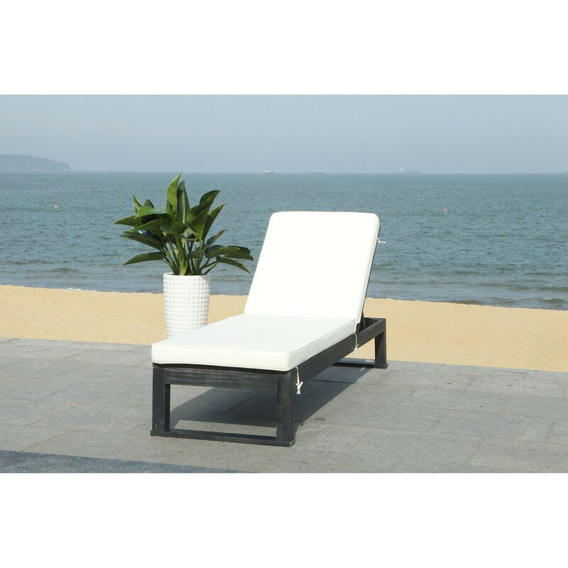 Faunce Reclining Chaise Lounge With Cushion In 2020 Outdoor Chaise Lounge Chair Patio Furniture Deals Outdoor Chaise Lounge