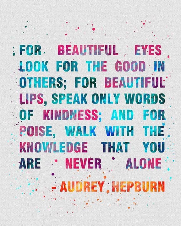 Audrey Hepburn Quote 2 Watercolor Art Print Quoted Pinterest