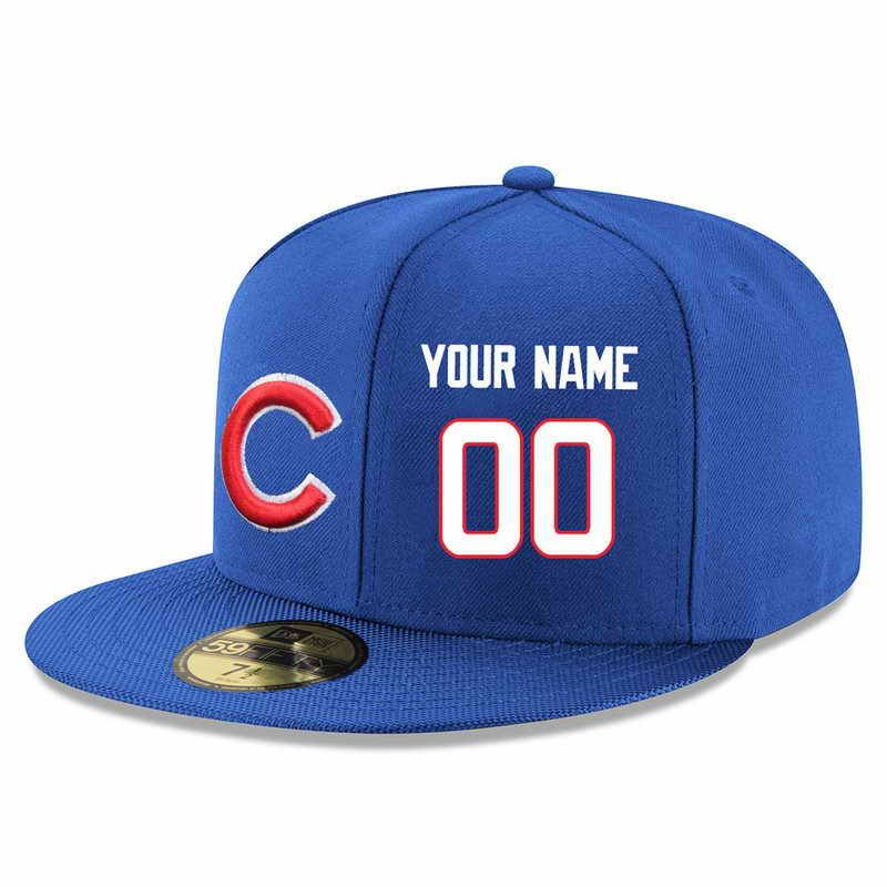 Chicago Cubs Snapback Cap Custom Name and Number NFL Player Stitched ... dd6b50181a7