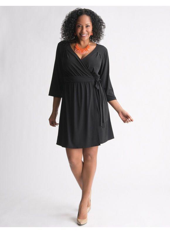 6a230372a709b Lane Bryant Wrap dress - Women's Plus Size/Black - Size 22/24 ...
