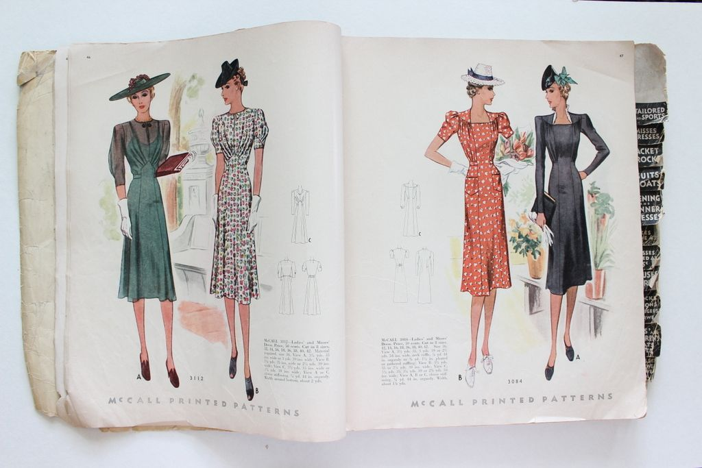 McCall catalogue, May 1939 featuring McCall 3112 and 3084