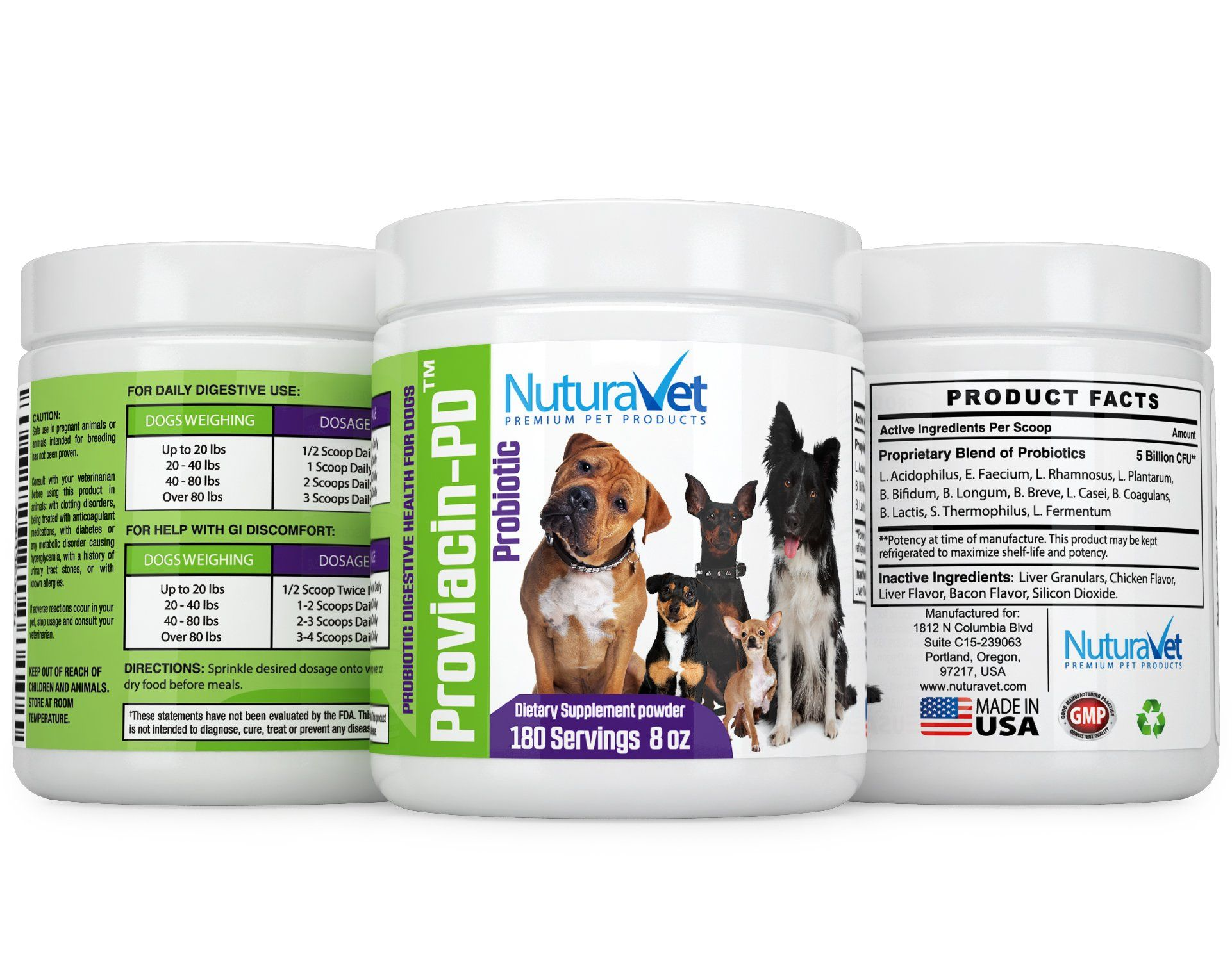 ProviacinPD Probiotics For Dogs By NuturaVet For Active