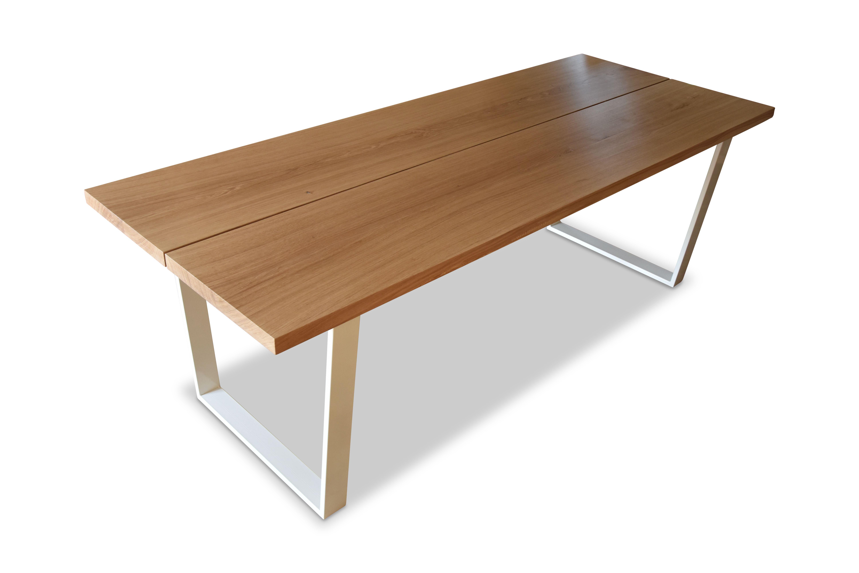 Esstisch Eiche Massivholz Nach Maß Esszimmer Klassisch Modern Design,  Kufengestell, Tischplatte Geteilt,