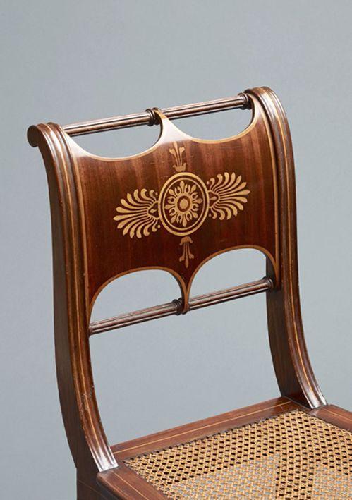 Karl Friedrich Schinkel, Salon chair, 1828-30. Berlin. Mahogany.