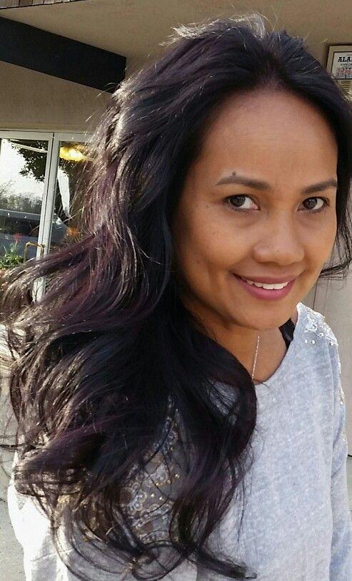 dark eggplant hair color hairstyle