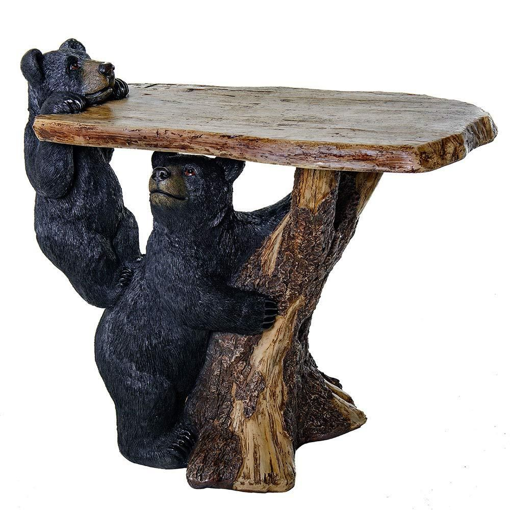 Black Bear Coffee Table For Home Office Bear Decoration Home