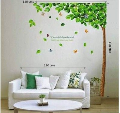 offers2go Natural Tree PVC Removable Wall Sticker HomeDecor