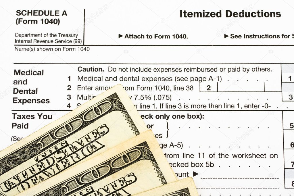 Federal Tax Forms For Items Deductions Royalty Free Stock Images