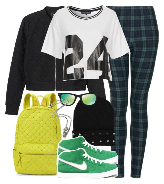 """""""Kira Inspired Outfit with Requested Shoes"""" by veterization ❤ liked on Polyvore featuring Monki, Topshop, Nila Anthony and Ray-Ban"""