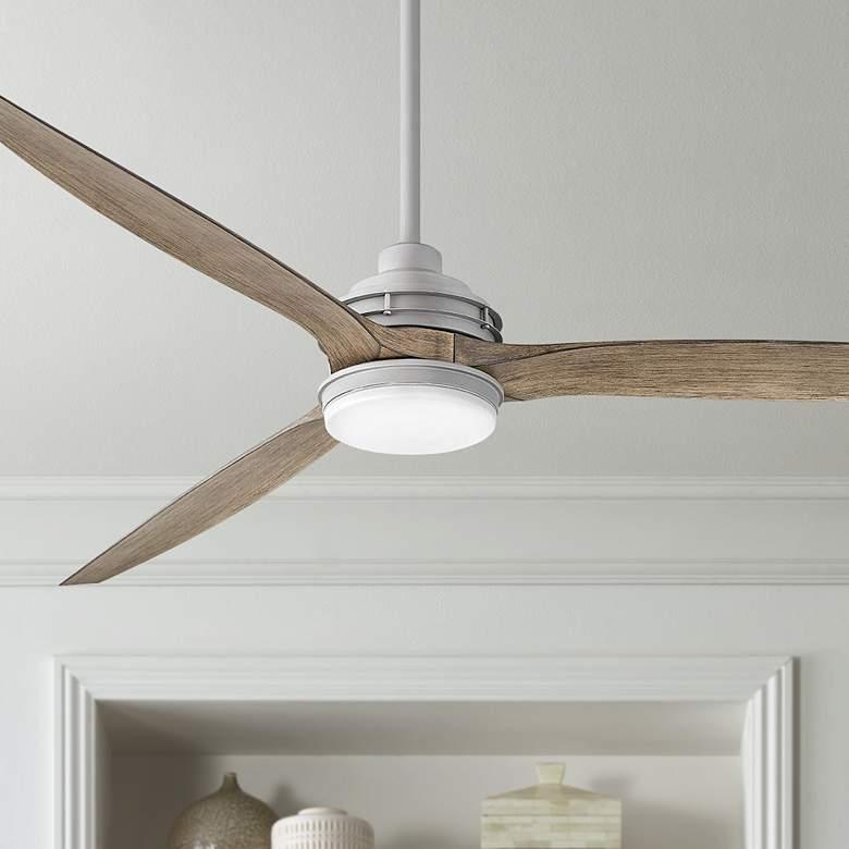 72 Hinkley Artiste Graphite Led Wet Rated Ceiling Fan 84h52 Lamps Plus In 2020 Wet Rated Ceiling Fans Ceiling Fan Brushed Nickel Ceiling Fan