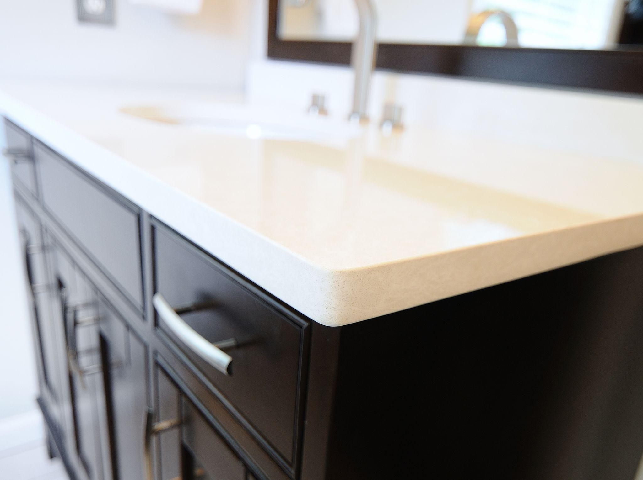 Newport Cambria Quartz Vanity Top On Expresso Cabinet Master Bath Ideas Cambria Quartz