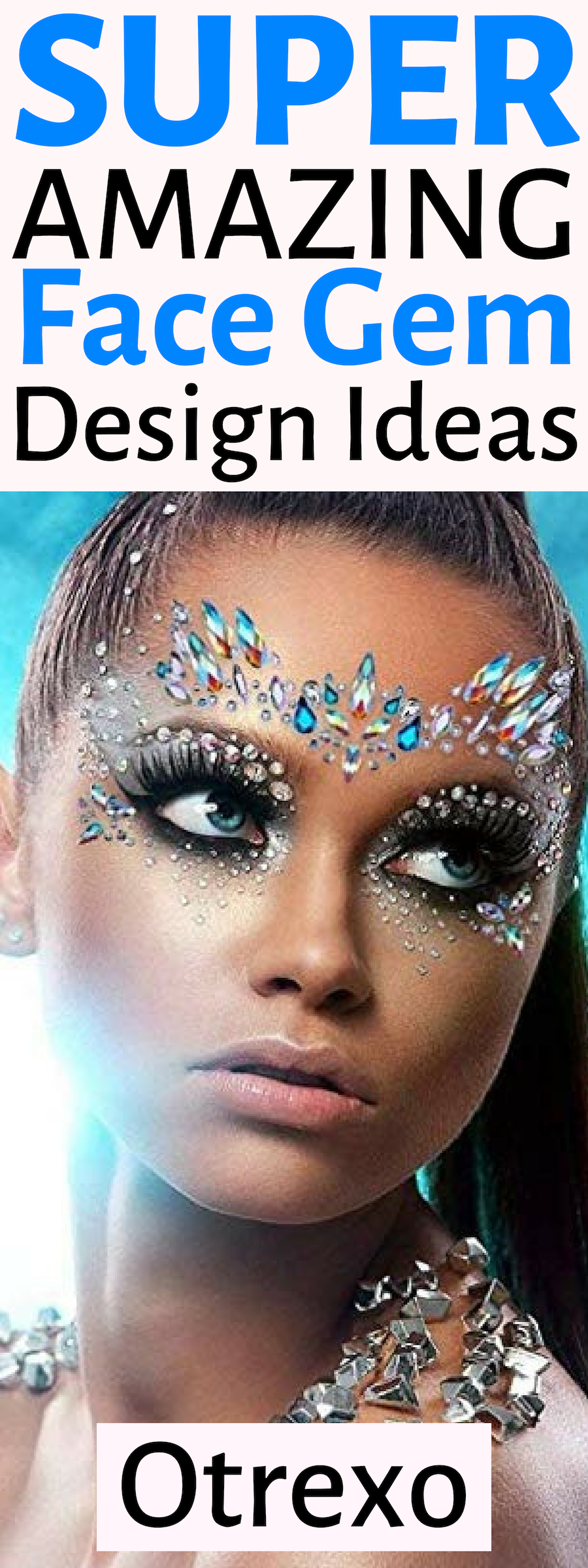 Face Gems & Rhinestone Glitter Set Face gems, Face