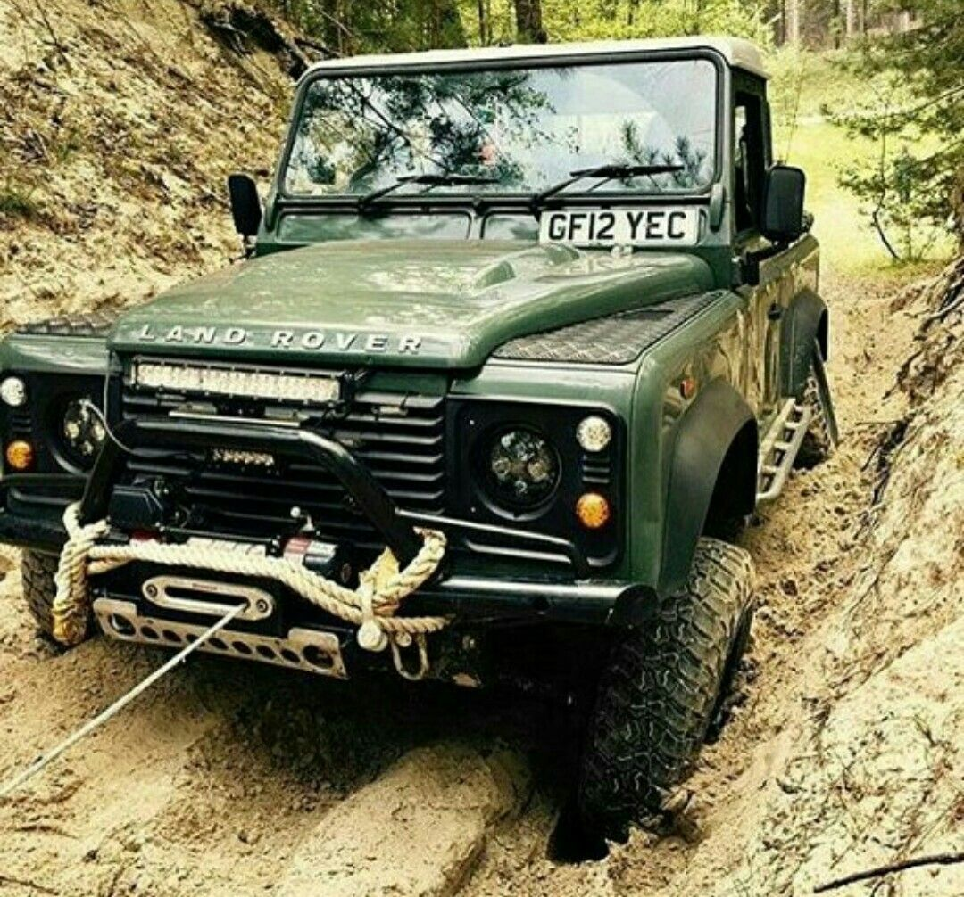 Land Rover Defender 90 Td4 Pickup Truck In Mud Action