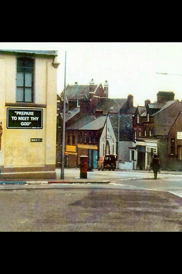 The Long Walk. British bomb disposal expert Oldpark Belfast 1970s.