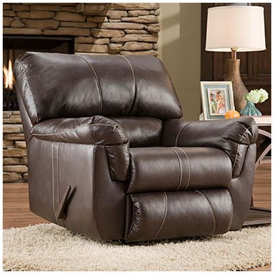 Simmons Bucaneer Cocoa Rocker Recliner At Big Lots This Is The Faux Leather Recliner That Goes With The Simmon Rocker Recliners Big Lots Home