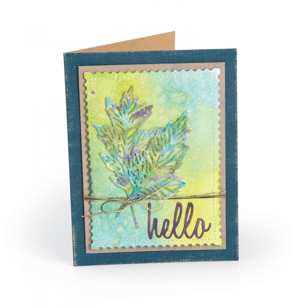 Hello Autumn Leaves Card #helloautumn