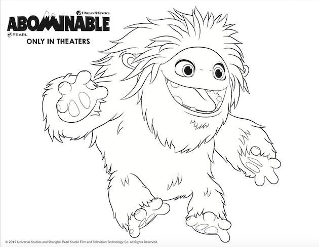 Abominable In 4dx Plus Printables And Everest Donuts Recipe Coloring Pages Drawings Cute Drawings