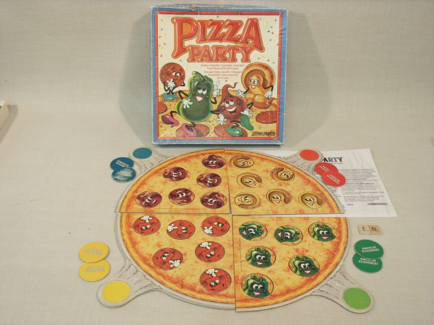 Vintage Pizza Party Matching Board Game 1987 100 Complete Parker Brothers By Boardgamerecycler On Etsy