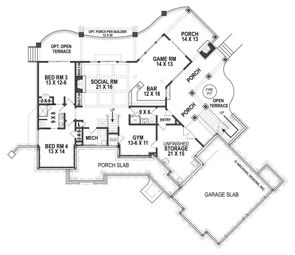 Harmony Ranch Rustic Floor Plan Mountain House Plans Archival Designs Cottage House Plans Ranch House Plan Mountain House Plans