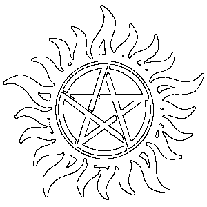 Make A Stencil Or Pattern From A Picture Supernatural Crafts Supernatural Tattoo Supernatural Wallpaper