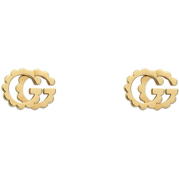 9a889b513 Gucci Double G Yellow Gold Studs ($680) ❤ liked on Polyvore featuring  jewelry, earrings, 18 karat gold stud earrings, gold earrings, 18k gold  earrings, ...