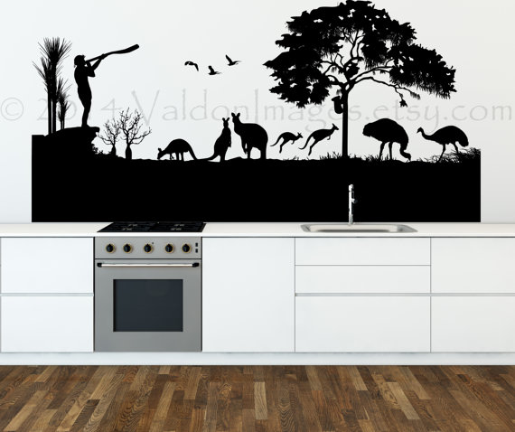 Australian landscape wall decal vinyl wall decal by ValdonImages & Australian landscape wall decal vinyl wall decal australia wall ...