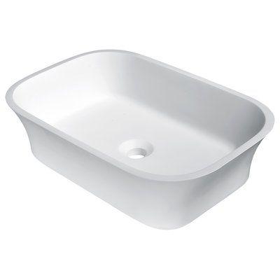 Anzzi Ajeet Stone Rectangular Vessel Bathroom Sink Vessel Sink
