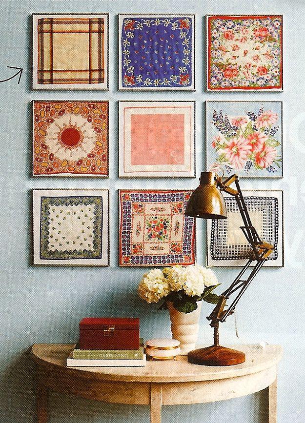 cute diy wall art for spring diy wall art handkerchiefs and diy wall