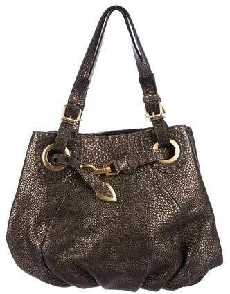106ed6b63256 Fendi Selleria Tumbled Leather Shoulder Bag