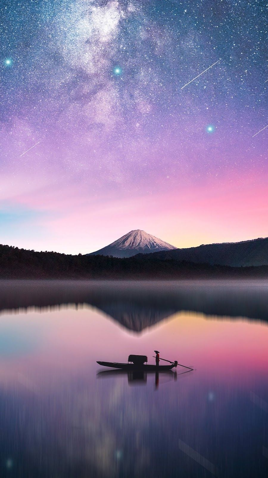 Milky Way In Mount Fuji Wallpaper Pins Emely Fondos De