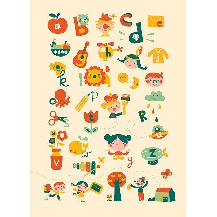Illustraties Posters, Alfabet Posters
