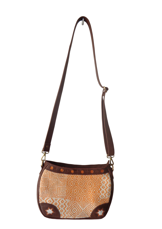 Handmade Cotton Rug Mix Leather Handbag Shoulder Bag Shopping Bag Modern Bag Closure by Zip for Man /& Women Made in India