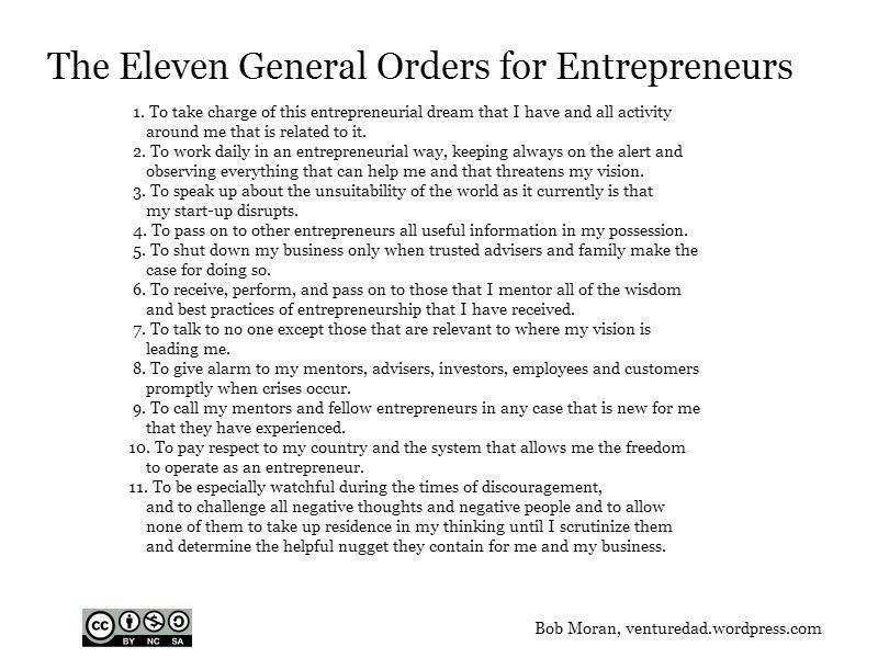 11 General Orders for Entrepreneurs | Entrepreneur