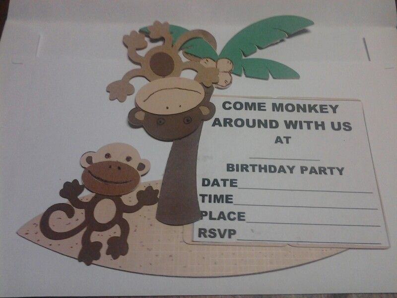 Monkeying around birthday invites
