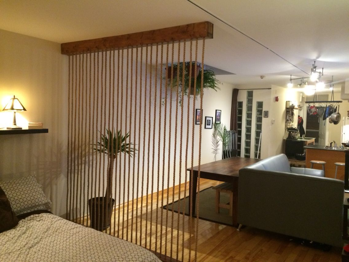 2 bedroom loft camelback resort  Built this rope wall room divider to break up my loft style space